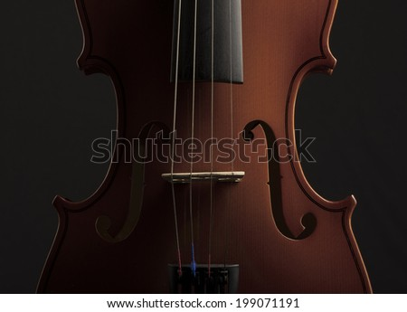 Close up of a violin