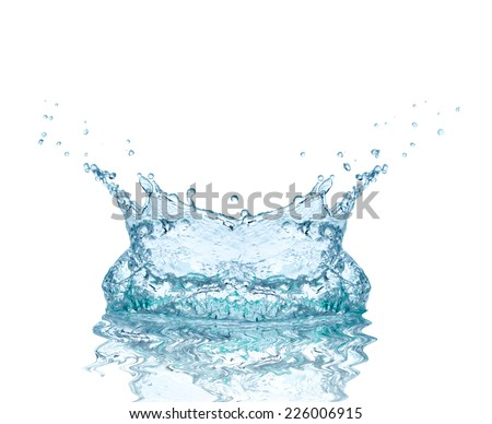 close up of  a water splash on white background - stock photo