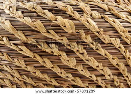 Close up of a weaved basket - stock photo