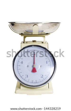 Close-up of a weighing scale - stock photo
