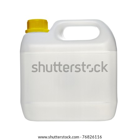 close up of a white container on white background - stock photo