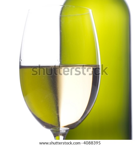 Close up of a wine glass - stock photo