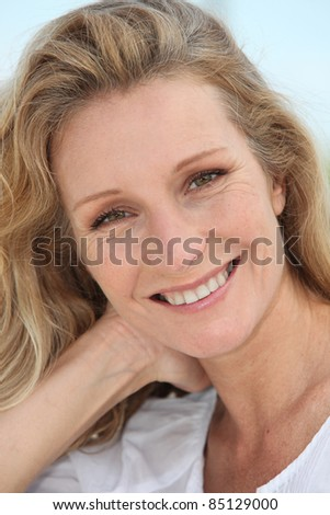 close-up of a woman - stock photo