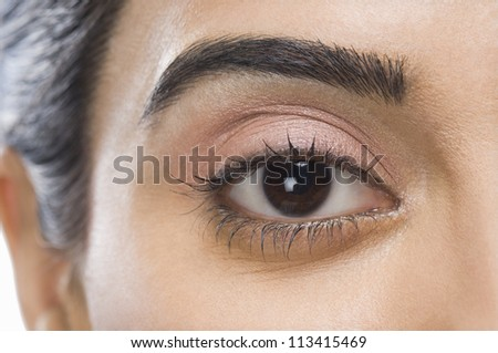Close-up of a woman's eye