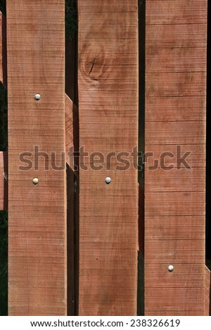 Close-up of a wood gate - stock photo