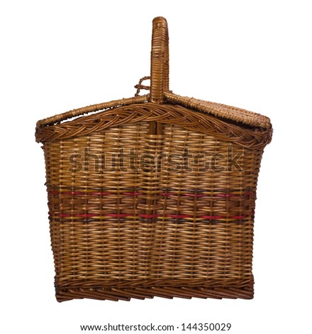 Close-up of a wooden basket