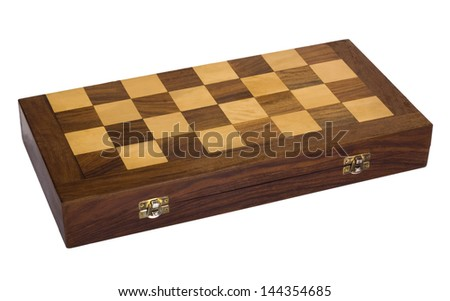 Close-up of a wooden chess box - stock photo