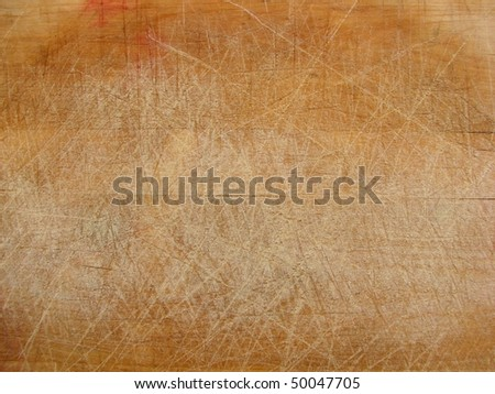 close up of a wooden chopping board - stock photo