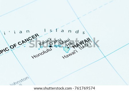 Close world map hawaii focus stock photo 100 legal protection close up of a world map with hawaii in focus gumiabroncs Image collections