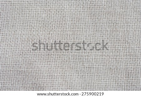 Close-up of a woven fabric - pure linen