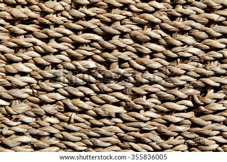 Close up of a woven texture. Weaving. - stock photo