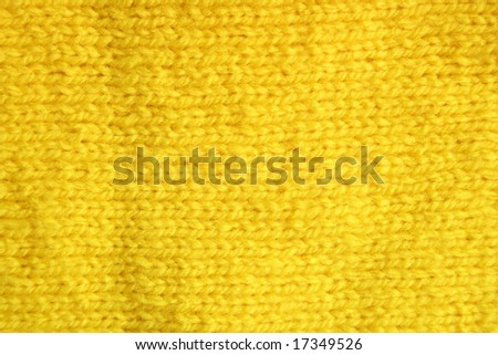 Close-up of a yellow color woolen pattern