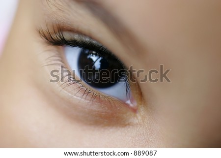 Close up of a young child's eye - stock photo