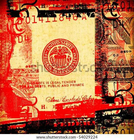 Close up of abstract US dollar