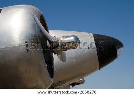 Close up of aeroplane propellers