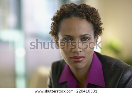 Close up of African woman outdoors - stock photo
