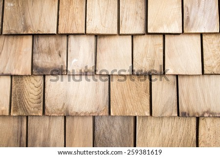close up of aged wooden roof texture