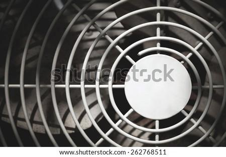 close up of air compressor - stock photo