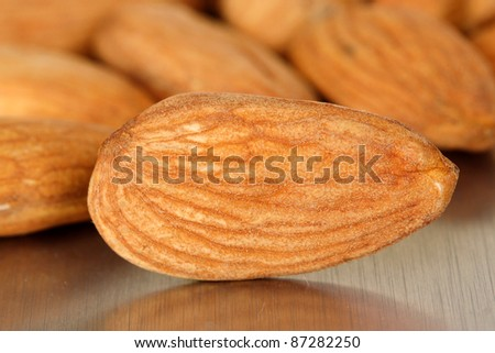 Close up of almond - stock photo