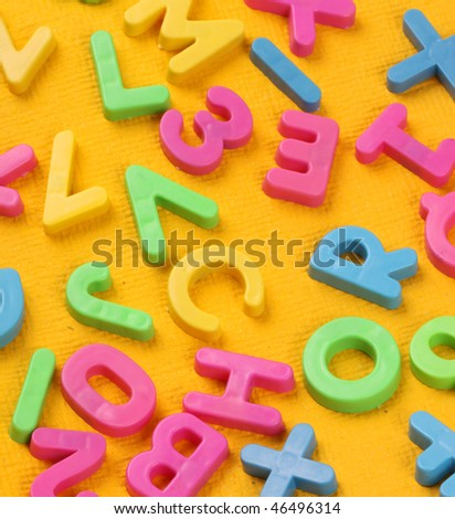 Close up of alphabet and Number Blocks