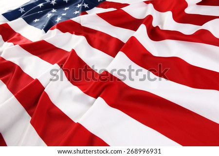 Close up of American flag - stock photo