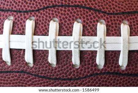 Close up of american football - stock photo