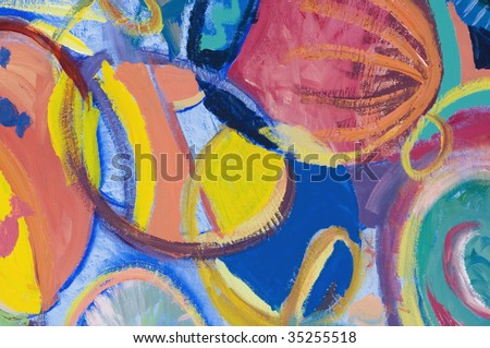 Close-up of an abstract pattern on a multi-colored background