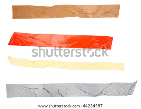 close up of an adhesive tape on white background. each one is in full camera resolution - stock photo