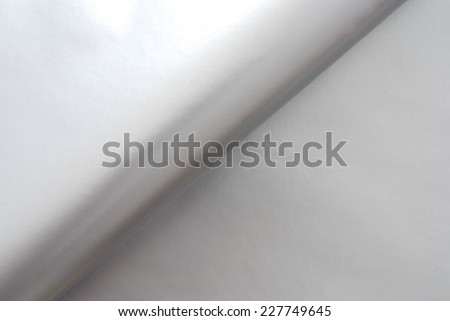 close up of an aluminum foil  with text space - stock photo