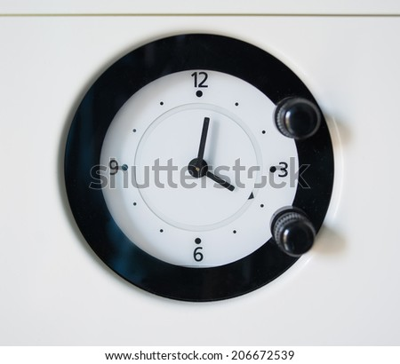 close up of an analogic oven timer - stock photo