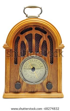 close up of an antique radio receptor - stock photo