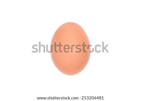 Close up of an egg isolated on white background with clipping path - stock photo