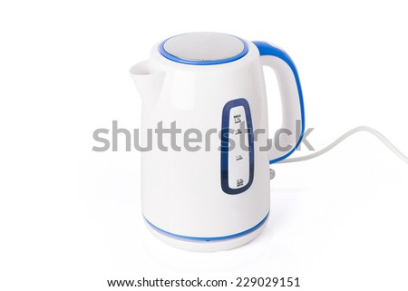 Close-up of an electric kettle - stock photo