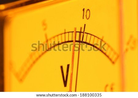 Close up of an Electric meter - stock photo