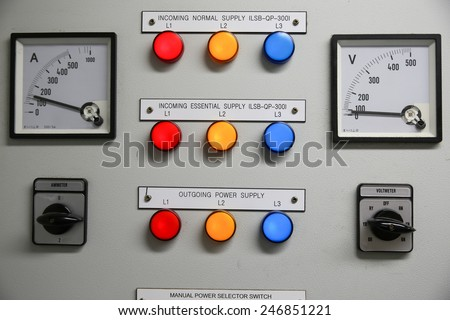 Close Electric Meterelectric Utility Meters Apartment Stock Photo ...