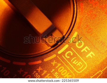 Close up of an Electric multi meter - stock photo