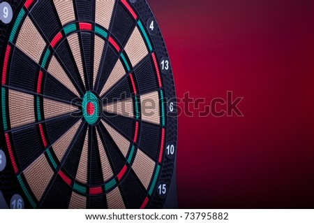 close up of an electronic dart board