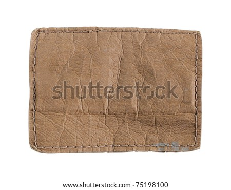 close-up of an empty denim or jeans label - stock photo