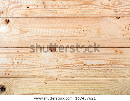 Close-up of an empty rustic wooden surface, shot from above - stock photo