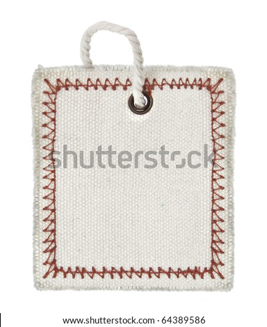 close-up of an empty tag on pure white background - stock photo