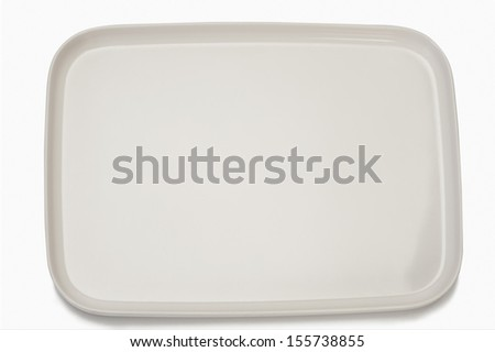 Close-up of an empty tray - stock photo