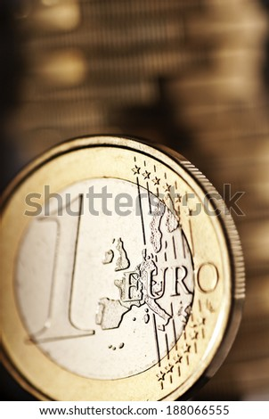 Close up of an euro coin