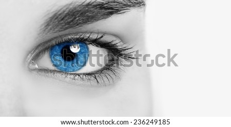 Close-up of an eye - stock photo