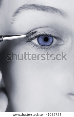 Close-up of an eye, very clean image, all reflections removed. Enjoy :) - stock photo