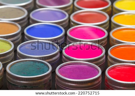 Close-up of an Indian Holi festival colours. Shallow DOF - stock photo