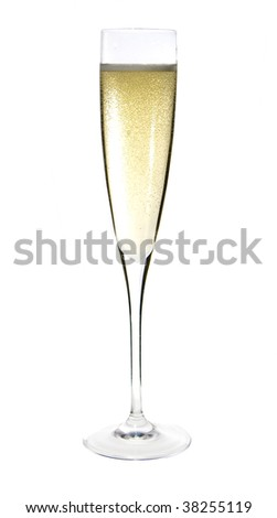 close up of an isolated glass cup of champagne - stock photo