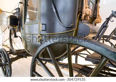 Close Up of an old carriage
