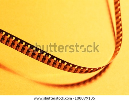 Close up of an Old 8mm film strip - stock photo