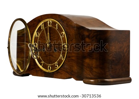 Close up of an old watch with musical fight - stock photo