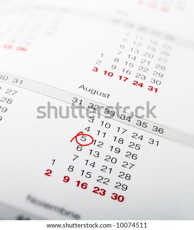 Close-up of an organizer - stock photo